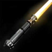 CIELTAN Luke sabre Laser RGB, sabre Laser, lourd, duel, lumière, 12 couleurs de lumière, 6 polices sonores, Force FOC, poignée en métal, jouets, cadeau