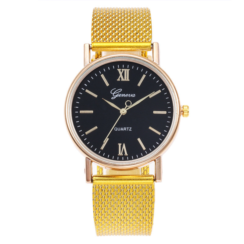 Steel Mesh Band Watch Stainless Steel Gold Watch Ultra Thin Men's And Women's Business Watch Manufacturer Wristwatch