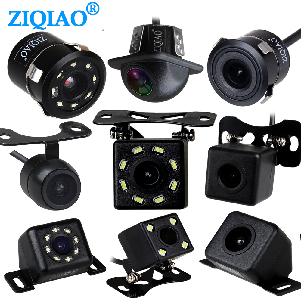 ZIQIAO CCD Car Rear View Reverse Camera Universal Waterproof Night Vision HD Parking Backup Camera