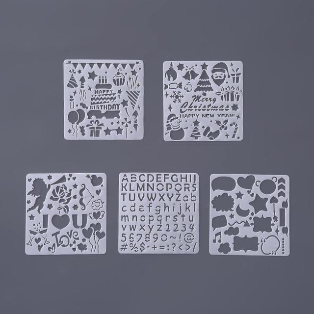 5 Pcs / Set Cutout Paint Template for Kids