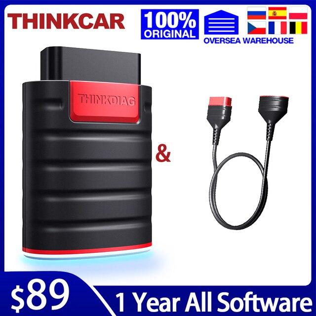 Thinkcar thinkdiag obd2 ferramenta de diagnóstico com cabo software completo 1 ano atualização obd 2 leitor de código poderoso do que o lançamento easydiag