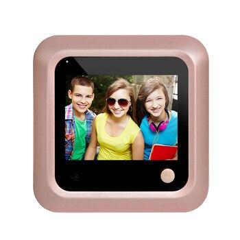 Timbre de puerta de visión nocturna LCD profesional, gran angular, inteligente, electrónico, antirrobo