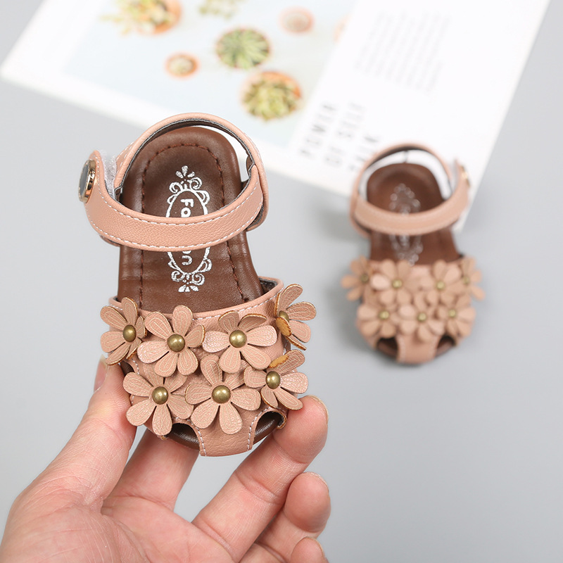 Baby Soft Bottom Baby Shoes 0-2 Years Old Sandals Princess Shoes Summer Non-slip Girls Toddler  Sandals  For Toddler Girls