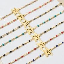 ZMZY Boho Edelstahl Seestern Charm Armbänder Für Frauen Mode Schmuck Stern Link Kette Armband Sommer Böhmischen Armband