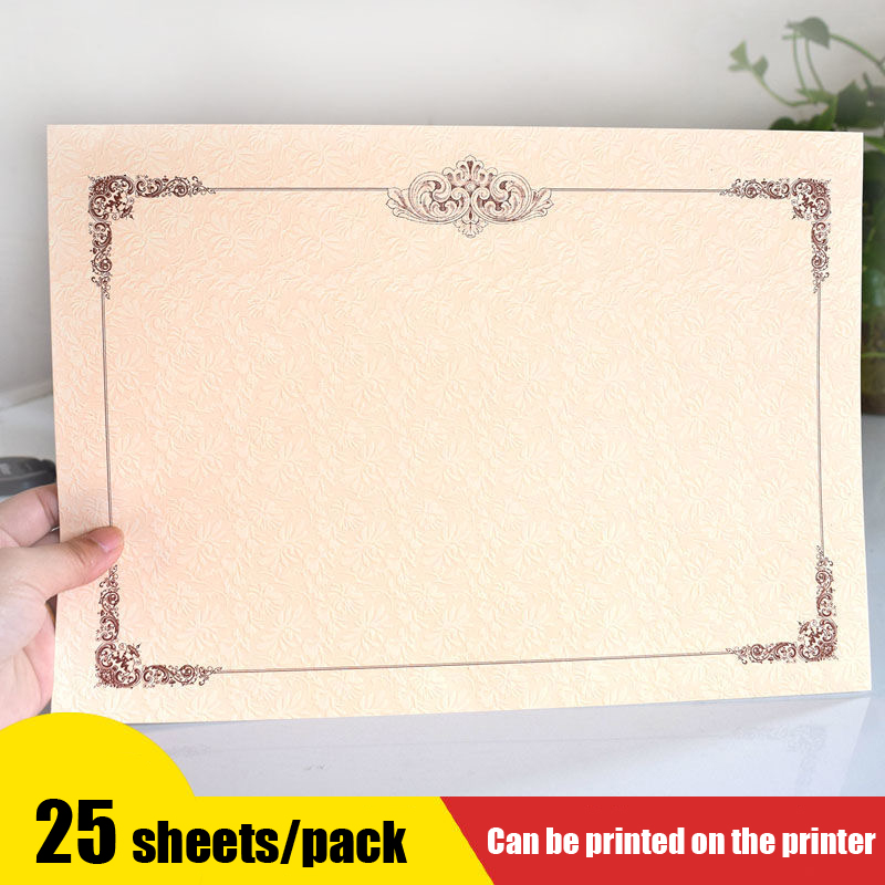 25 Sheets/Bag A4 Thick Blank Inner Core Copy Paper Honor Certificate for Children And Wmployees Letter of Appointment Graduation