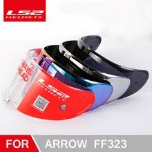 100% オリジナル LS2 FF323 オートバイヘルメットバイザーのための適切な LS2 矢印炭素繊維ヘルメットカメレオンシルバー黒レンズ