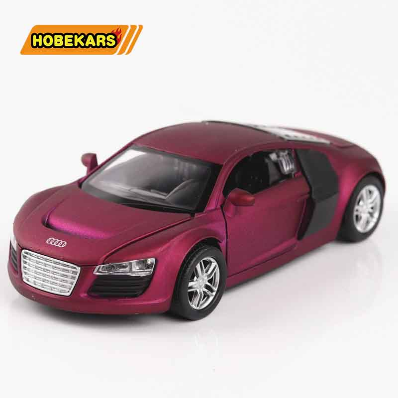1/32 R8 Sport-car High Simulation Diecast Model Car Metal Alloy Cars Lights Toys Vehicles For Kids Gifts For Children