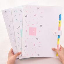 A4 Expanding Wallet File Folder Organizer for Student Gift Creative Document Bag Kawaii Office Stationery School Supplies