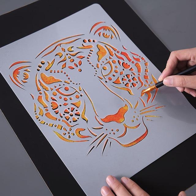 Disegno a mano Stencil Strumenti Giocattolo Per Bambini FAI DA TE Foto Della Novità Giocattolo Educativo Vari Stili Rifornimenti di Arte Creativa Giocattolo Per I Bambini 1