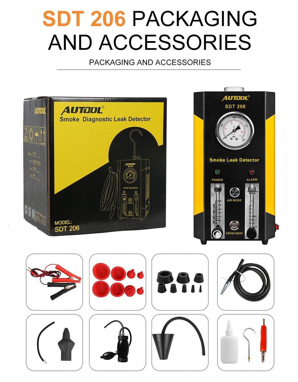 Новое поколение Autool SDT206 автомобильный Грузовик детектор утечки дыма машины EVAP система обновленная версия SDT-206 - Цвет: SDT206