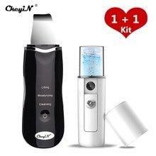 Limpiador ultrasónico Nano Ion para piel, Extractor de exfoliación Facial, dispositivo de belleza de Limpieza Profunda, rociador Facial a vapor 44