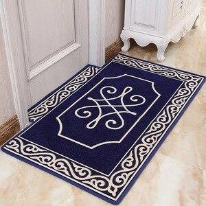 Mata podłogowa żakardowy dywan europejski styl prosty wzór antypoślizgowy dywan do salonu wystrój dywany tekstylia domowe Sofa mata dywanowa