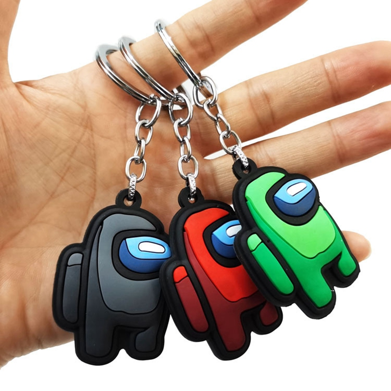 Keychain PVC Pendants-Accessories Car-Keys-Decoration Gift Us-Series Among for Bag 1PC