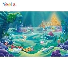Yeele Wonderland Backdrop Seabed Fish Mermaid Newborn Baby Birthday Party Custom Photography Background Vinyl For Photo Studio