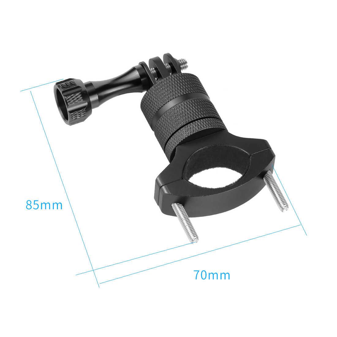 F23459 Manillar de aluminio de la bicicleta del Motor abrazadera de montaje Clip para Gopro 5 Xiaoyi SJCAM piezas de la Cámara de Acción