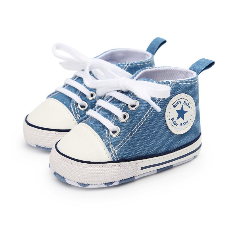 Baby Boys Girls Toddler Canvas Shoes Infant Fashion Shoes Newborn Soft Bottom Shoes First Walk Sneakers 0-18 M