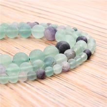 Wholesale Frosted Fluorite 4/6/8/10 / 12mm Natural Stone Loose Beads Jewelry Bracelet Necklace Make purple fluorite natural stone loose round beads for jewelry making diy fluorite stone beads material 4 6 8 10 12mm wholesale