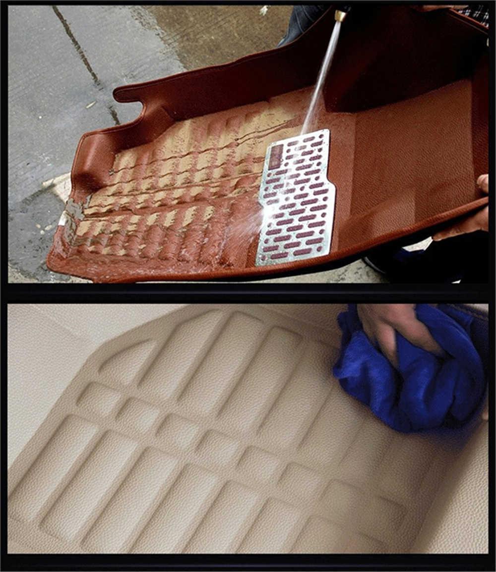 SJ 3D imperméable à l'eau personnalisé tapis de sol de voiture avant et arrière revêtement de sol style Auto tapis pour HONDA CRV CR-V 2017 2018 2019