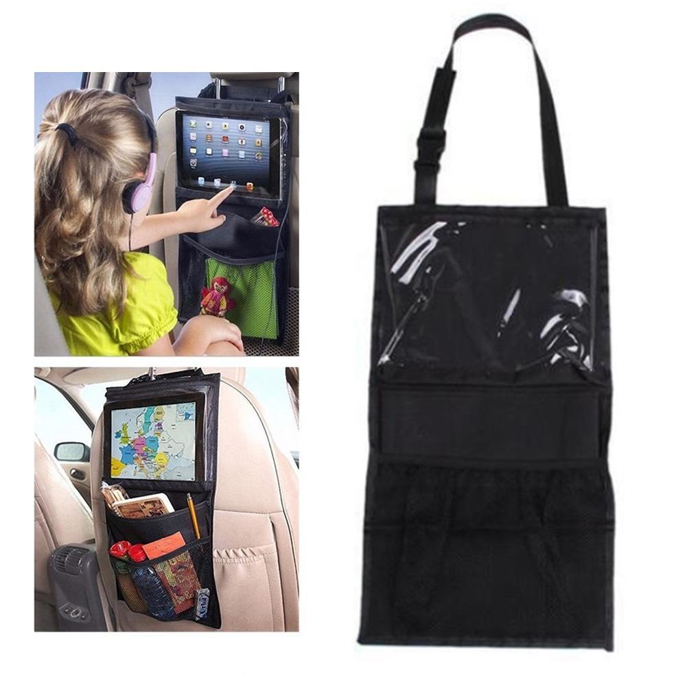 Car Auto Back Seat Organizer Multi-pocket Phone Tablet Holder Travel Storage Bag