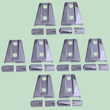 DWCX 8Set Chrome Door Hinge Cover Protector Trim ABS Fit for Jeep Wrangler JK 2007-2010 2011 2012 2013 2014 2015 2016 2017 2018 abs plating body door side molding trim set for jeep grand cherokee 2011 2012 2013 2014 [qpa166]