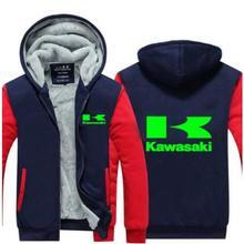 Мужские толстовки, зимние утепленные мужские свитера Kawasaki для мужчин, зимние толстовки на молнии, пальто t