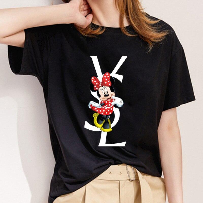New mouse print T shirt women's fun mouse Harajuku Ulzzang fashion T shirt graphics cute cartoon T shirt Korean fashion shirt|T-Shirts| - AliExpress
