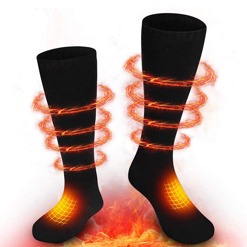 Electric Heated Socks  USB  With Rechargeable Battery  3.7-Volt For Chronically Cold Feet Large Size USB Charging Heating Socks