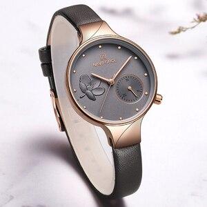 Image 5 - נשים שעוני יוקרה מותג NAVIFORCE קוורץ גבירותיי שעון שמלת שעון יד תאריך שעון עם תיבת סט למכירה Relogio Feminino