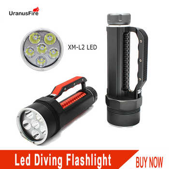 Diving Light 6*L2 7200LM led Diving Flashlight Waterproof Lamp Scuba Submersible Underwater 100M Work Torch 32650 Batteries - DISCOUNT ITEM  26 OFF Lights & Lighting