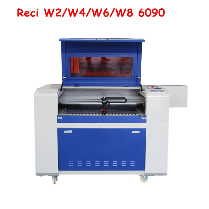 Reci 80W 100W 6090 Laser Engraving Cutting Machine Laser Cutter Engraver Acrylic Leather MDF Ruida Control System With CE FDA