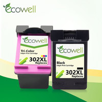 ECOWELL 302XL 교체 hp 302 XL hp302 hp Deskjet 1110 1111 1112 2130 OfficeJet 5220 5230 5232 프린터