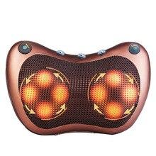 Travesseiro massageador elétrico, massageador multifuncional com infravermelho, terapia magnética para relaxamento do pescoço