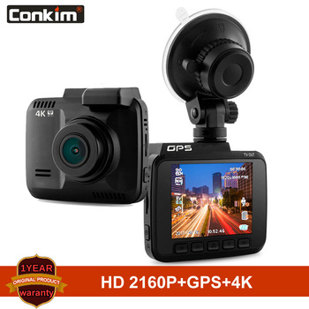 Conkim Dash Camera Novatek 96660 Wifi Car Cameras GPS Tracker 4K Ultra HD 2880*2160P Night Vision Car DVR 150 Degree Angle Lens image