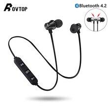 Rovtop magnético sem fio bluetooth fone de ouvido xt11 esporte correndo sem fio bluetooth fone para iphone 6 8x7 xiaomi mãos livres