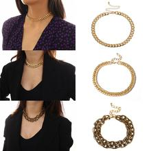 Geometric originality simple necklace female exaggerated punk metal chain necklace boako retro exaggerated link chain punk metal item necklace female simple hand chain geometric personality necklace shackles b3