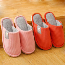 Female Slippers Couple Thick-Soled Winter Women Indoor Home Warm Girl's New