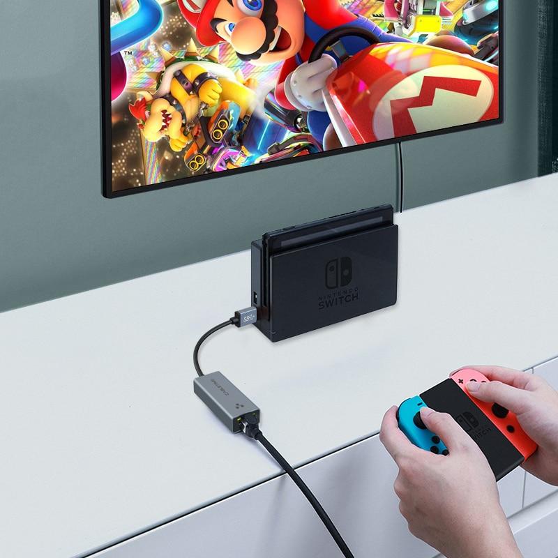 CABLETIME USB Ethernet Adapter 1000Mbps USB 3.0 2.0 LAN RJ45 Adapter for Laptop Nintendo Switch Macbook Air USB LAN C358 4