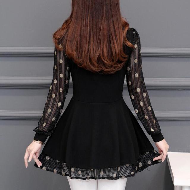 Women Blouses 2020 Autumn Long Sleeve Fashion Print Chiffon Blouse Women Shirts Korean Waist Plus Size Ladies Tops Blusas Mujer 6