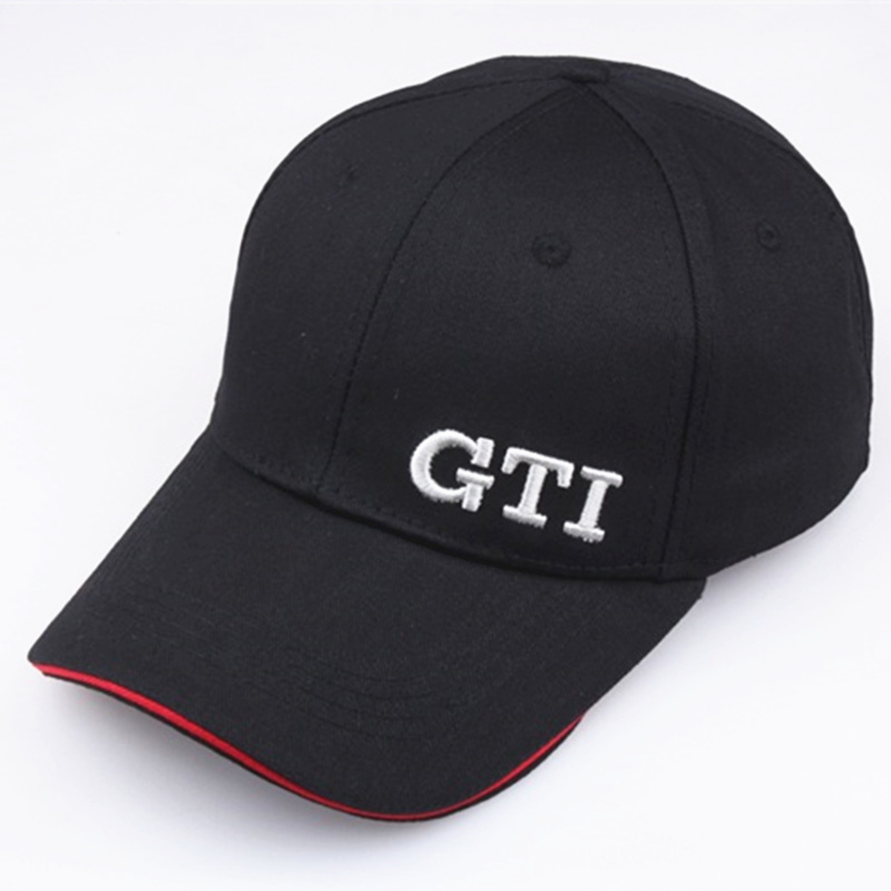 Fashion Exquisite Embroidery GTI Baseball Caps Solid Wash Cotton Dad Hats Truck Driver Hat Unisex Visor High Quality Adjust Bone