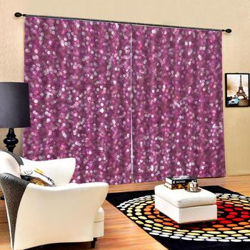 grils curtains  Luxury Blackout 3D Window Curtains For Living Room Bedroom Customized size pink curtains