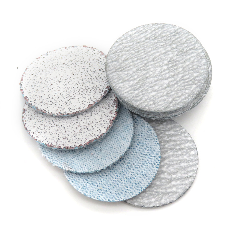 1-Inch 25MM Bei Rong Disc Sandpaper Self-Adhesive Litter Box Woven Nap Bei Rong Pian Flocked Polishing Sandpaper White Sand Dry