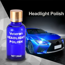 30ml Car Auto 9H Hardness Headlight Lens Restorer Repair Liquid Polish Cleaner Blur Oxidation Scratches