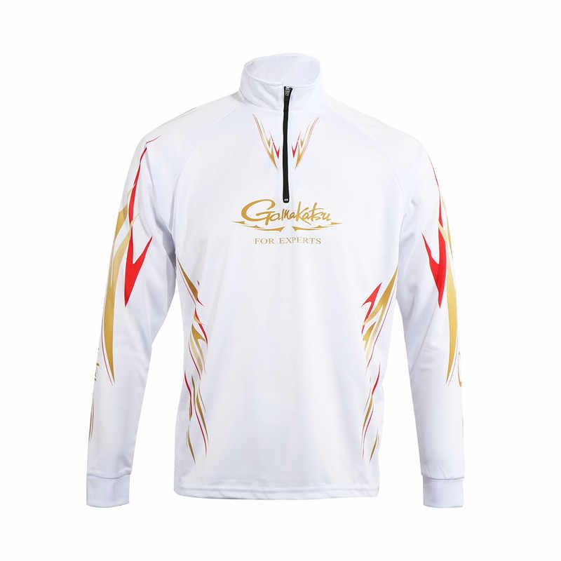 Mężczyzna lato kombinezon wędkarski ochrony przeciwsłonecznej mężczyźni koszula wędkarska z długim rękawem cienki anty-komar Uv turystyka T-shirt ubrania Sport odkryty koszula