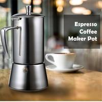 FIMEI 200ml Coffee Maker Pot Portable Espresso Coffee Maker Moka Pot Stainless Steel Coffee Brewer Kettle Pot 4 People Cups
