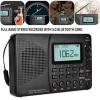 K-603 Full Band Radio Bluetooth FM AM SW Portable Pocket Radios MP3 Digital REC Recorder Support Micro SD TF Card Sleep Timer