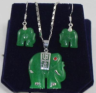 Очаровательные ювелирные наборы из натурального зеленого камня ожерелье кольцо серьги