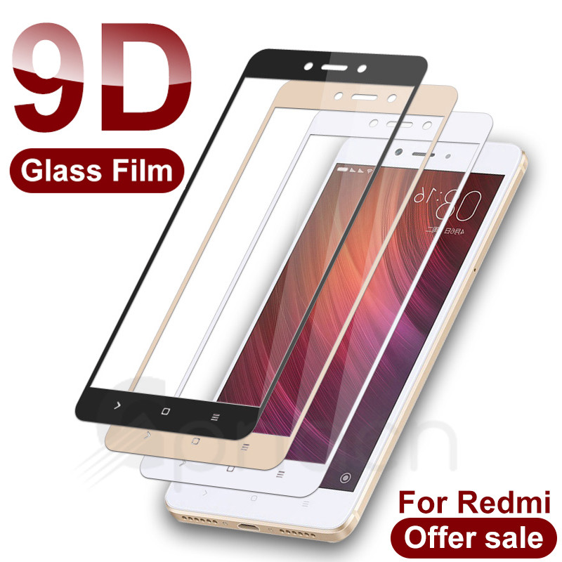 <font><b>9D</b></font> Protective Glass on the For <font><b>Xiaomi</b></font> <font><b>Redmi</b></font> Note 4 <font><b>4X</b></font> 5 5A Pro Screen Protector <font><b>Redmi</b></font> 5 Plus S2 <font><b>4X</b></font> 5A Tempered Glass Film Case image