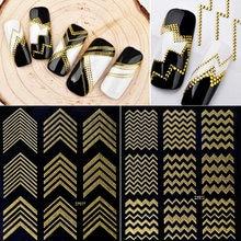 2020 New Nail Sticker Strap Adhesive 3D Metal Line Applique Art Decoration DIY Nail Applique Designer Work Accessories 7.7x9cm