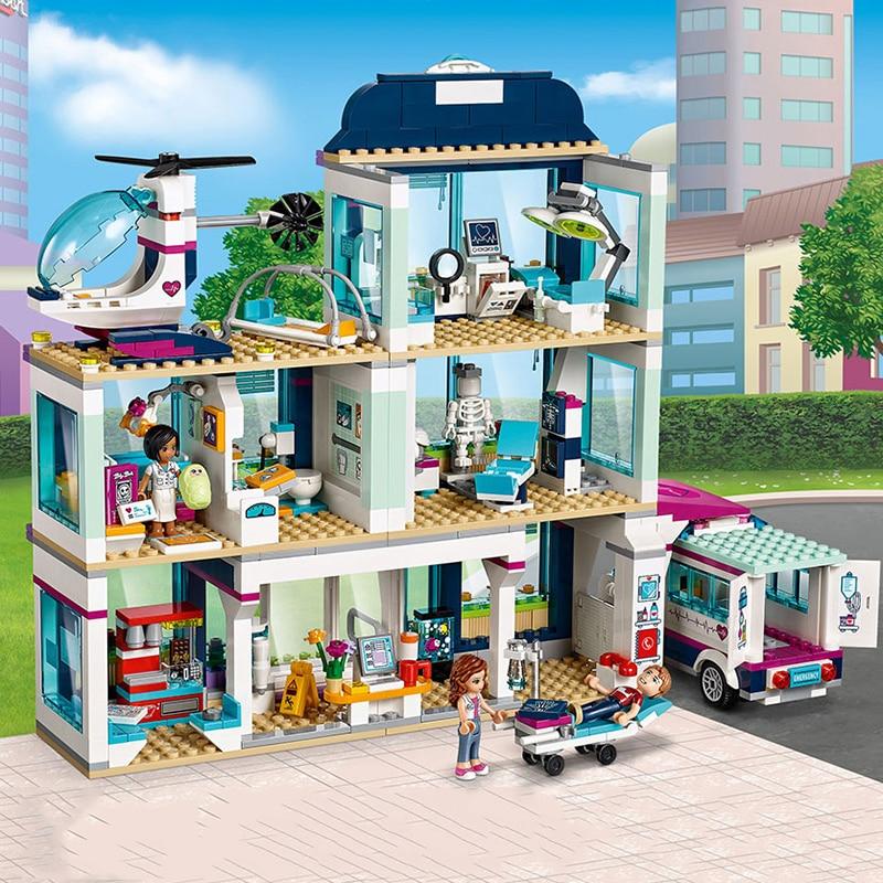 New Girl Friends Heartlake City Hospital Christmas Set Building Block Bricks Xmas Gift With 41318