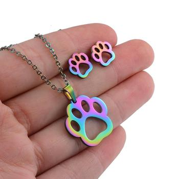 Dog  Necklace Rainbow Color 2